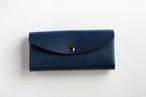 スムースレザー(栃木レザー)_ブルー◆外装◆おとな財布◆三つ折り