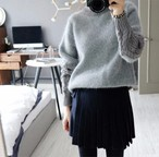 Retro twist sleeve sweaters