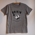 R&D.M.Co-/ Brikin Print T Shirt Ladys charcoal 【お問い合わせ商品】
