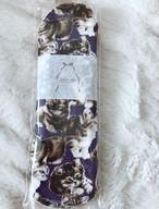 Siamese 猫柄布ナプキン Mサイズ(ネイビー猫)