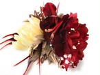 赤白*ダリアとアマリリスの髪飾り*成人式*結婚式*フラダンス*リゾートウエディング