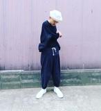THE HINOKI コットン馬布5タックパンツ BLACK #TH19W-13