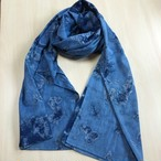 Hand Dyed Himalayan Cotton Scarf-Ocean Blue ヒマラヤンブルー コットン