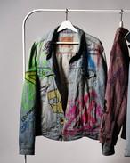 Colorgraffiti denim jackt