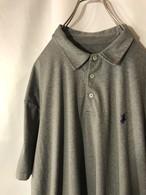 古着【POLO】 ラルフローレン ポロシャツ 90年代 90s サラサラ生地 オーバーサイズ 0206