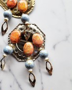 orange(imperial jasper) × light blue × gold  《再販なし》