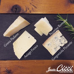 イタリア産 チーズアソート 4種セット 約100g 通販 限定商品 グラナパダーノ / アジアーゴ フレスコ / ペコリーノロマーノ / ゴルゴンゾーラ ピカンテ