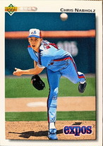 MLBカード 92UPPERDECK Chris Nabholz #579 EXPOS