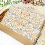 華やかで上品な黄色のバラの花柄リバティプリント【Felicite】を使った長財布