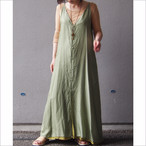 【hippiness】cupro Vneck camisole one-piece/ 【ヒッピネス】キュプラ ブイネック キャミソール ワンピース