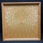 シオジ笹杢  光線貼り正方形のトレー  0055