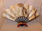 桜、秋草の飾り扇(ビンテージ) )cherry blossoms and autumn flowers pattern vintage fun(made in Japan)(No38)