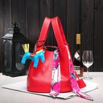 バッグ キーデザイン スクエア 17色展開 単色カラー バイカラー 大人可愛い ハンドバッグ 海外ファッション A111