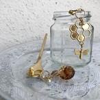 honeycomb pierce OR earring? ★購入時どちらか選ぶタイプ