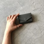 Letter- mini wallet / Asphalt