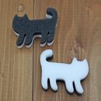 【ネコピカ】メラミンキッチンスポンジ6個入【猫雑貨 キッチン用品 ネコ キャット】