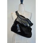 【RehersalL】ECO Fur BAG neck warmer (black) /【リハーズオール】エコファーバッグ ネックウォーマー(ブラック)