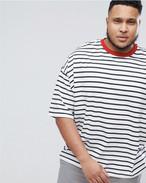 オーバーサイズ ストライプTシャツ