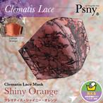 PSNY クレマティスレース(&オレンジ) 花粉 黄砂 洗えるフィルター入り 立体 マスク 大人用 送料無料