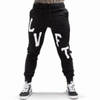 LIVE FIT Oversized Varsity Joggers - Black