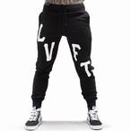 LIVE FIT Oversized Varsity Joggers - Black