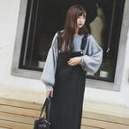 【配送優先】【dress】ノースリーブ無地高品質シンプルハイウエストカジュアルワンピース15174427