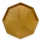 チーク歪目 八角形のトレー 0030