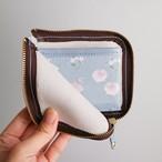開けてときめく*ブルーグレーの本革財布【ジゼル〜白のバレエ】