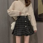 pearl button skirt