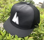 hsc-09 『WORKROWN×huntstored』 ・【GRAY】(FLAT SHORT) MESH CAP