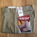 "Dickies Loose Fit Double Knee Work Pants-KHAKI ""Made in USA""<Deadstock>"
