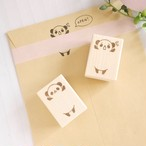 【選べるデザイン】「助けてー!」マステ貼られちゃったパンダはんこ/スタンプ(お手紙の封や手帳に♪)