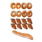 ミニクロワッサン8個&ベーグル4種類(プレーン2・ごま2・ごまチーズ2・チョコ2)8個&バケット1本