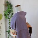 正絹 滅紫(けしむらさき)の色無地 紋入り