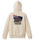 オリジナル・オーダーAK-FPAKA-0003  オーストラリアン・ケルピー パーカー10oz フルジッパー Aussie Pride 袖プリントあり