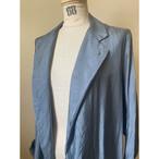 【hippiness】cupro coat(blue gray)/【ヒッピネス】キュプラ コート(ブルーグレー)