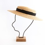 mature ha./6mm braid straw hat short