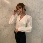 lace collar blouse