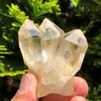 インド マニカラン産 ヒマラヤ水晶クラスター ゴールデンヒーラ レインボー入り <世界最高のパワースポット> 86g