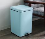 ペダル式ペール 5L アイボリー ダストボックス ゴミ箱 ソフトクローザー ブルー