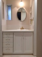 アウロ社 ホワイト塗りつぶし フレンチ 洗面台