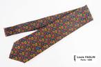ルイファグラン|クラヴァット ボワバン|コラボ|稀少|'50~'80年代デッド生地使用ネクタイ|ペイズリー柄|グリーンベース