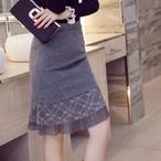 【bottoms】OLレースタイトフィッシュテールスカート25059475