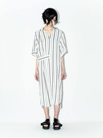 Stripe Long Shirts Dress