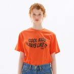 「PCC」グラフィック Tシャツ オレンジ