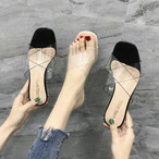 【shoes】簡約シンプルポインテッドトゥ無地ミュール