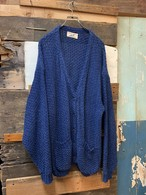 90's winona knits indigo cotton cardigan