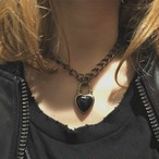 Never End Chain Choker/Necklace Gold/Black #0101 ネバー・エンド チョーカー/ゴールド/黒