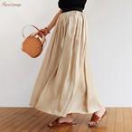 0050102【W-3】【SALE】オーロラ ラメ プリーツ スカート