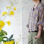 クラシックボタニカルプリント・オープンカラーシャツジャケット *Liyoca(リヨカ)